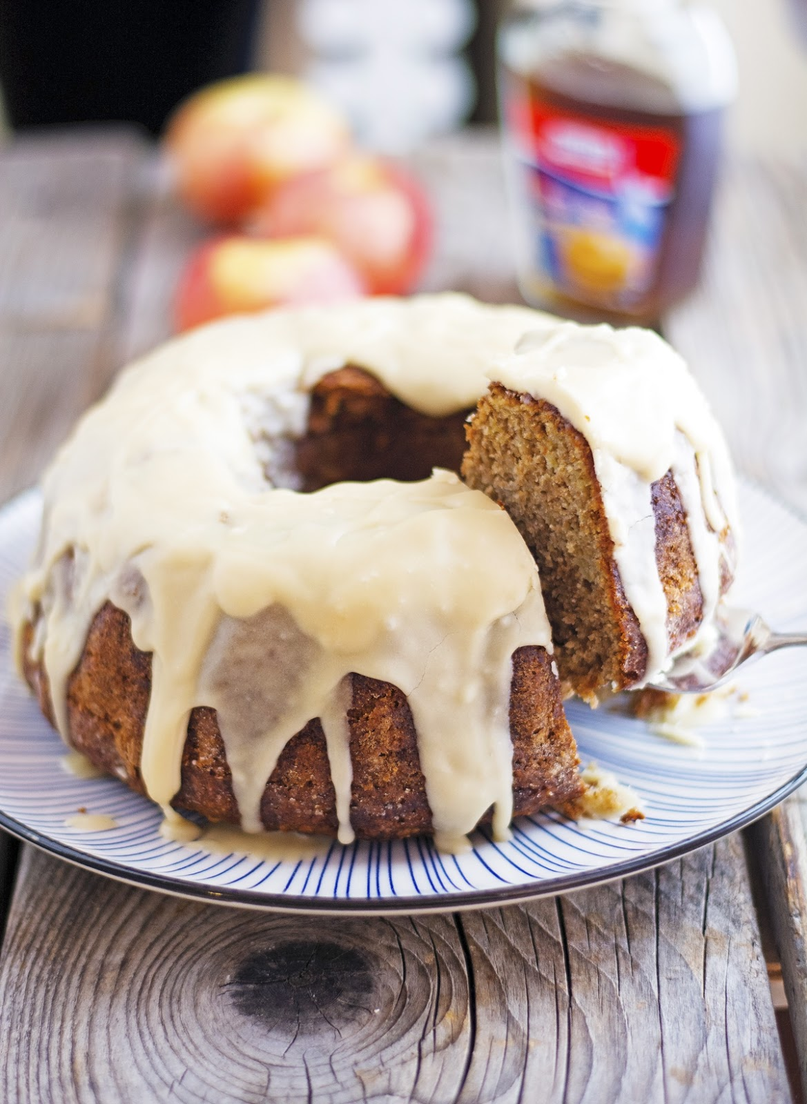 Whole Wheat Maple Apple Bundt Cake