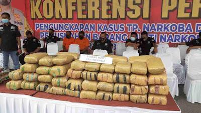Polrestabes Medan Adakan Deklarasi Tolak Narkoba Serta Musnahkan 26,7 Kg Sabu dan 69,6 Kg Ganja