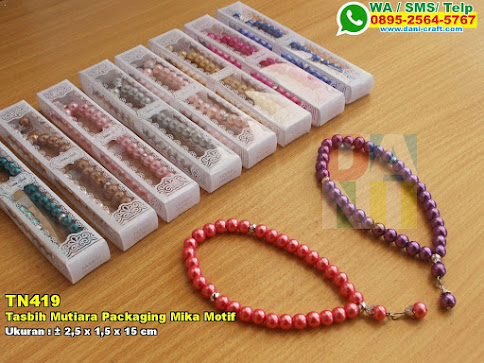 Tasbih Mutiara Packaging Mika Motif