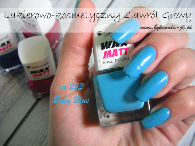 Lakiery My Secret Wax Matt - Baby Blue