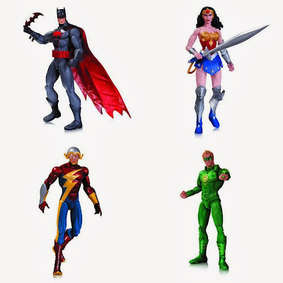 DC Comics Earth 2 New 52 Action Figures by DC Collectibles - Batman, Wonder Woman, Green Lantern (Alan Scott) & The Flash (Jay Garrick)
