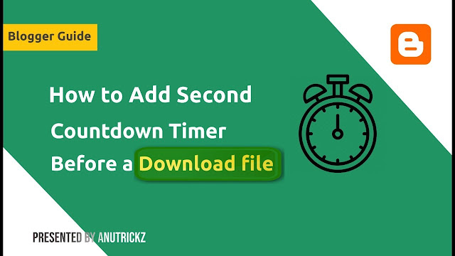 How to Add Second Countdown Timer Before a Download file