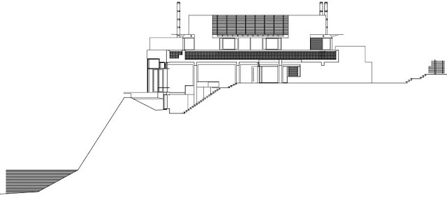 Section drawing of Shaw House