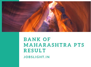 Bank of Maharashtra PTS Result