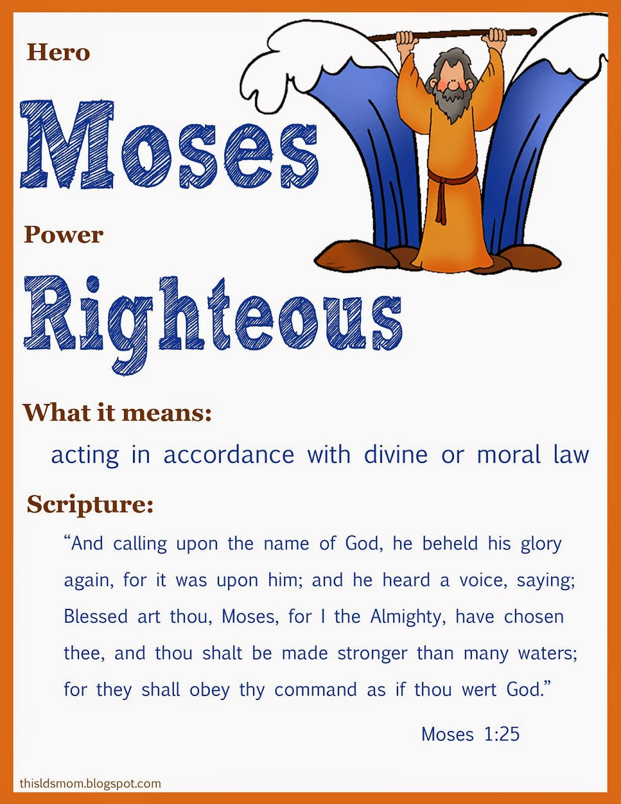 This Lds Mom Scripture Heroes Moses