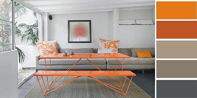 Siempre guapa con norma cano decoraci n en naranja y gris for Great un bano con paredes en naranja de