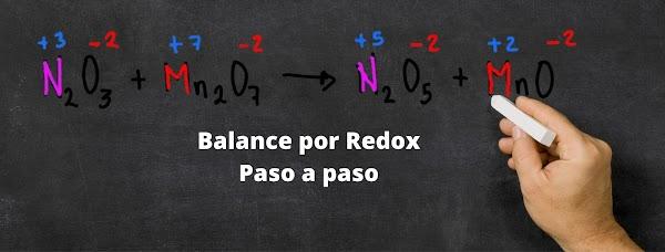 BALANCE REDOX : N203+MnO7 ▷ N205+MnO [ ✅ SOLUCIÓN PASO A PASO]