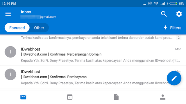 "Cara Mengatur Fitur ""Focused"" di Outlook di Android/iPhone"