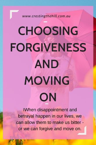 When disappointment and betrayal happen in our lives, we can allow them to make us bitter - or we can forgive and move on. #forgiveness