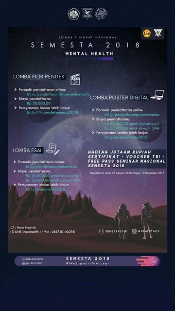 Lomba Esai, Lomba Poster, Lomba Film SEMESTA 2018