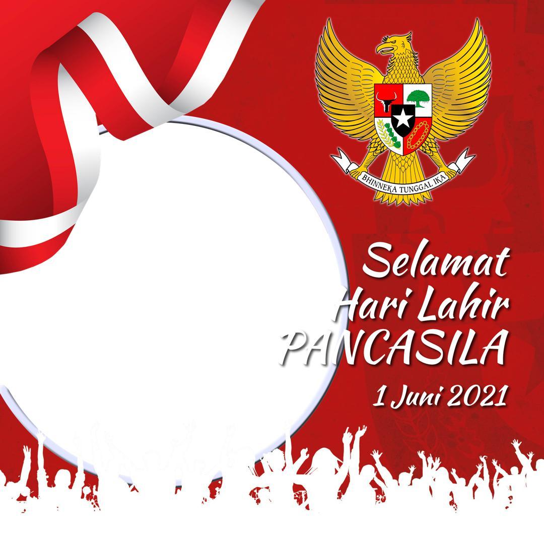 Desain Keren Twibbon Selamat Hari Lahir Pancasila 2021 dengan Lambang Garuda