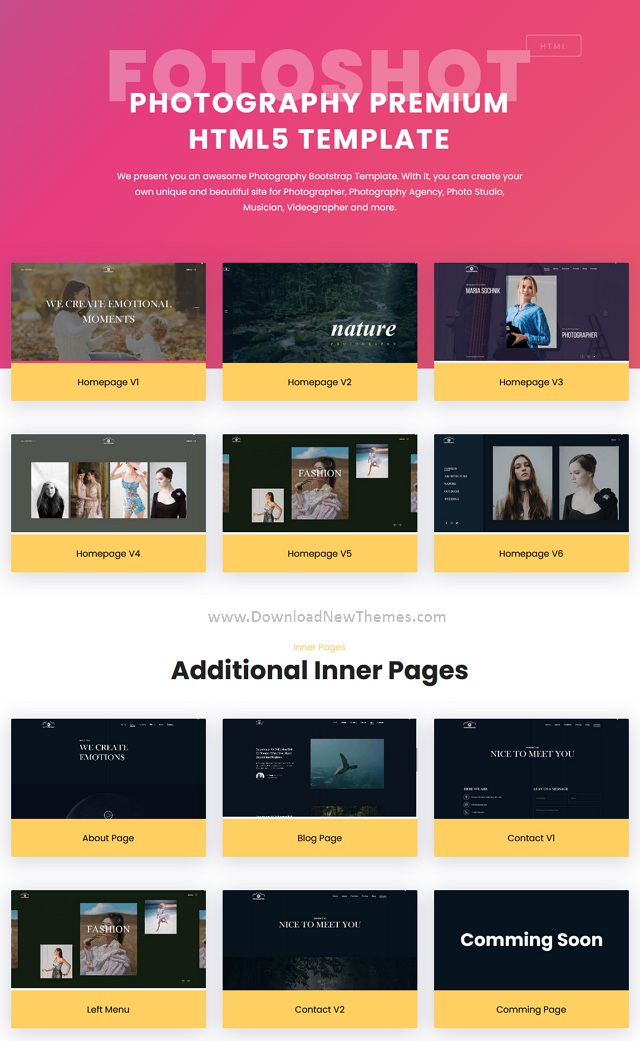 Creative Photographer Responsive Template