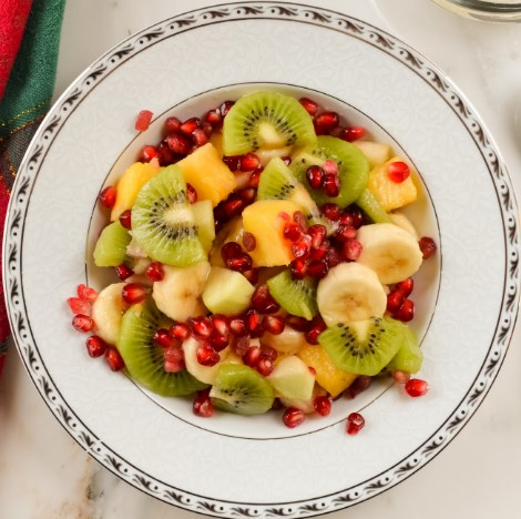 CHRISTMAS FRUIT SALAD #vegan #glutenfree
