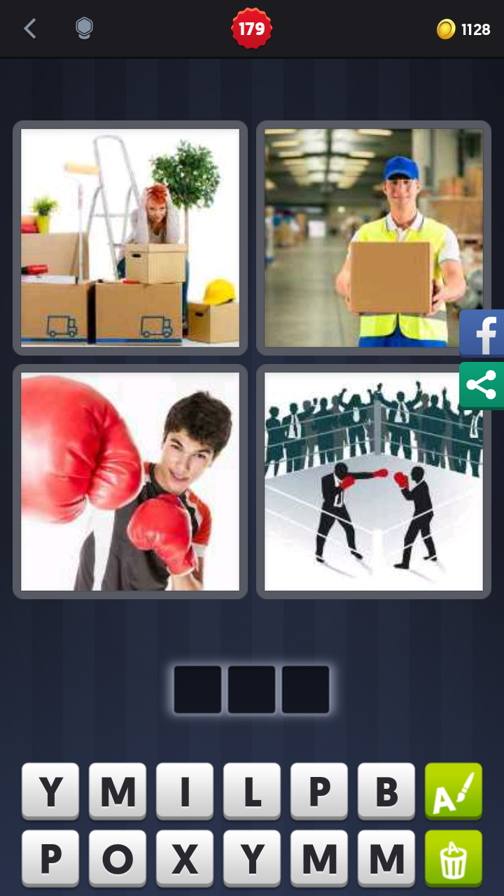 4 Pics 1 Word Answers Solutions Level 179 Box