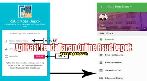 aplikasi pendaftaran online rsud depok