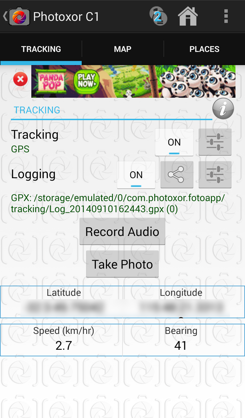 Tracking Screen