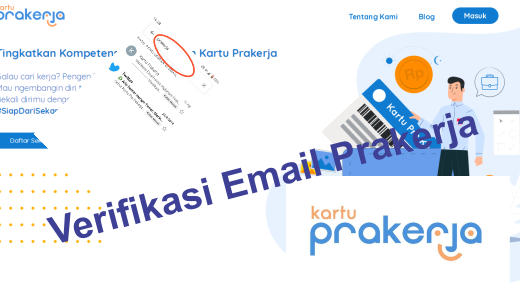 Cara verifikasi email prakerja