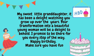 21st birthday wishes for granddaughter