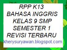 Rpp K13 Bahasa Inggris Kelas 9 Smp Semester 1 Revisi Terbaru Http Rcbehindthesehazeleyes3 Blogspot Com