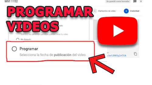 como programar videos en youtube