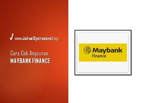 Cek Angsuran Maybank Finance