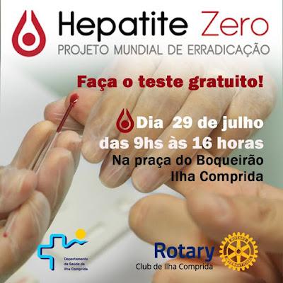 Saúde e rotary realizam sábado 29/07 campanha Hepatite Zero na Praça do Boqueirão