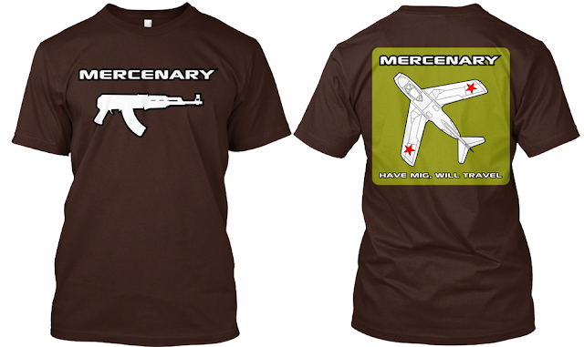 Mercenary Garage - Have MiG Will Travel Tee Shirt