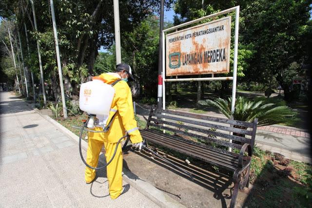 Fasilitas Umum, Kantor Balaikota dan DPRD Mulai Disemprot Disinfektan