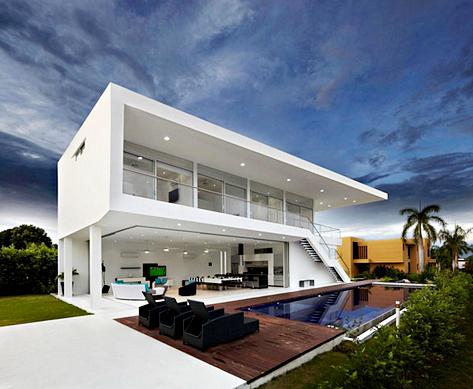 Gambar Rumah Minimalis Modern Ukuran Besar Plus Kolam Renang