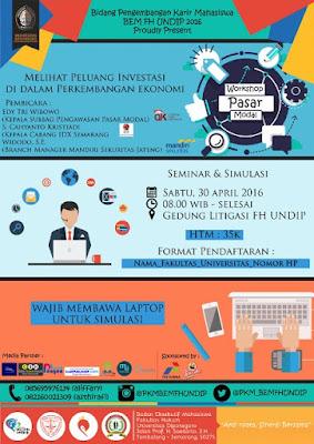 Workshop Pasar Modal PKM BEM FH Undip