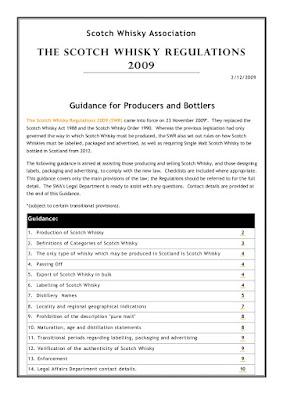 Scotch Whisky Regulation
