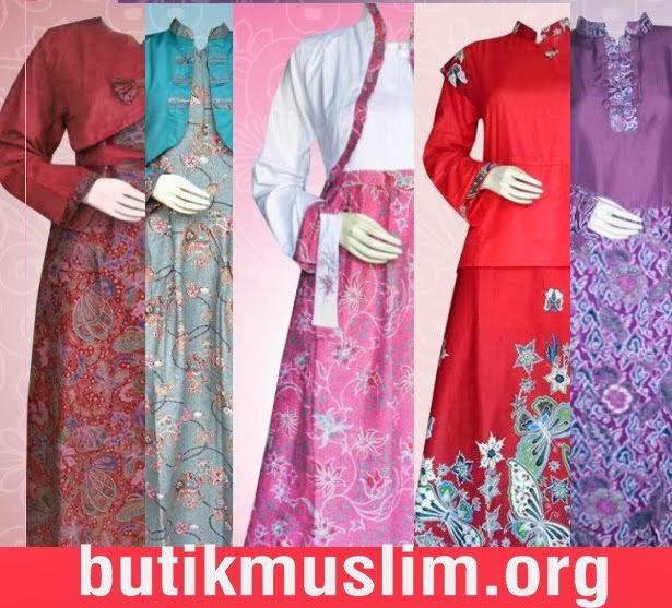 Baju Batik Seragam Keluarga Tanah Abang: Contoh Gamis Modern