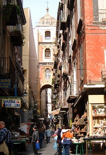 Via San Gregorio Armeno is famous for its stalls selling hand-made presepi