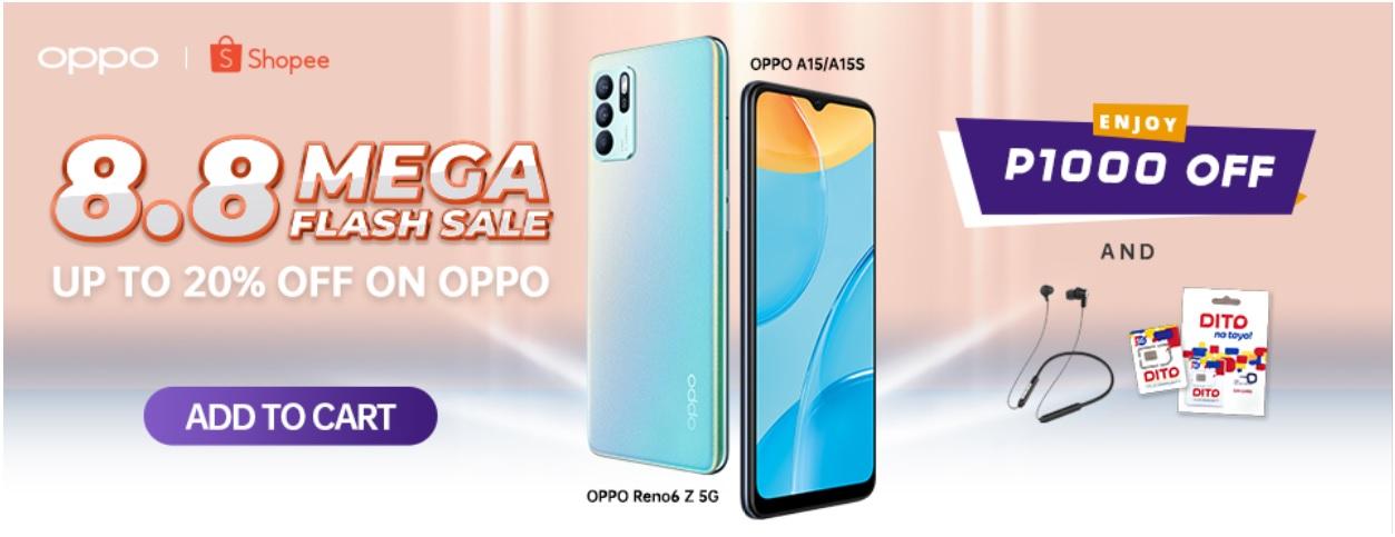 OPPO's 8.8 Shopee Super Brand Day Sale