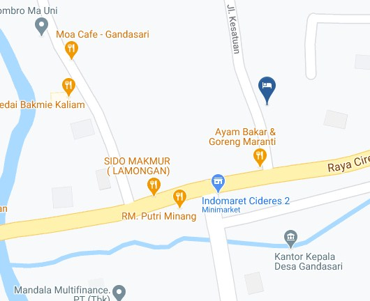 Map Letak Hotel Cideres Holiday Home Majalengka