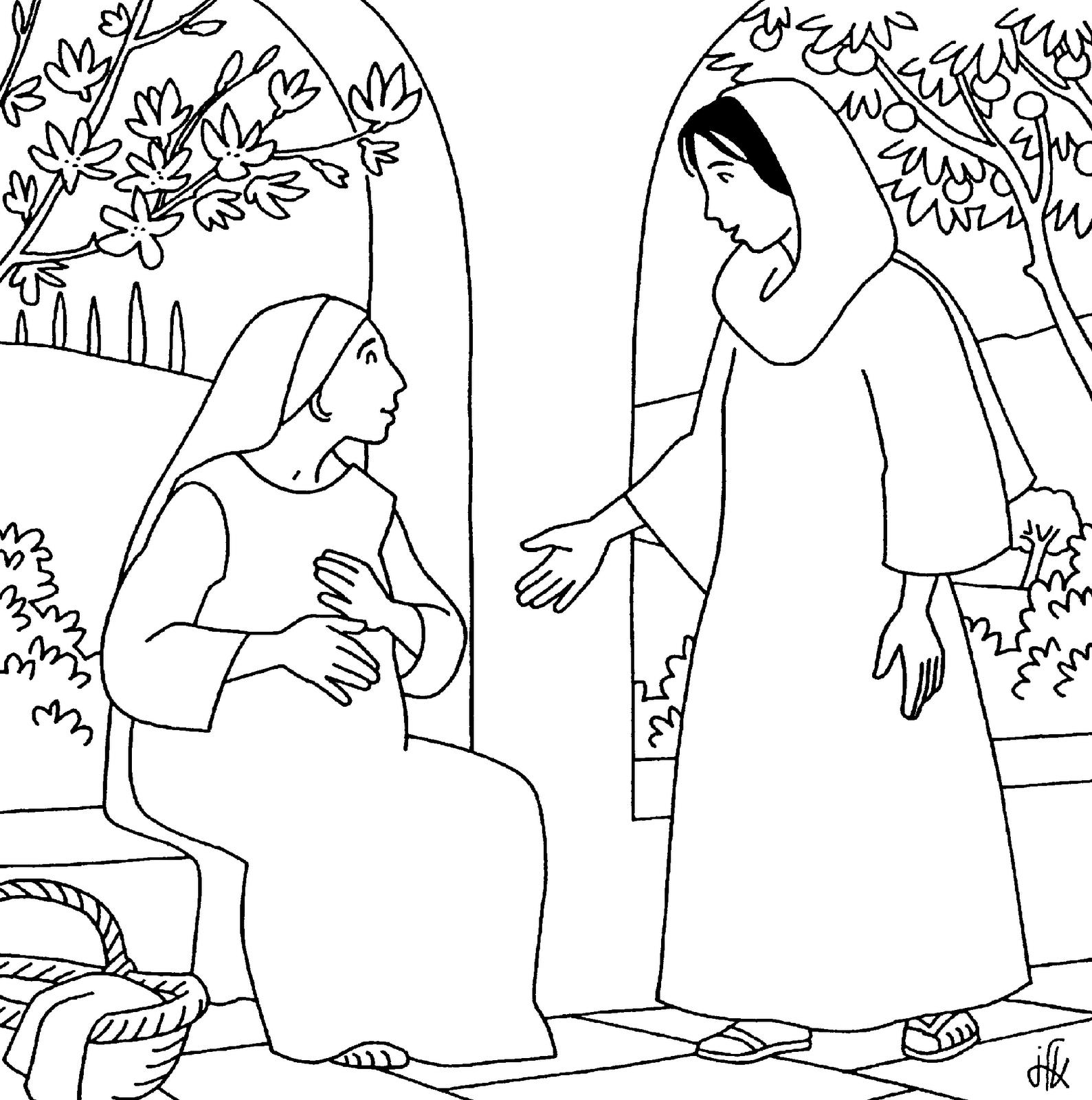 Zacharias En Elisabeth Kleurplaat Zacharias En Elisabeth Kleurplaat Zacaras Nuevo Testamento