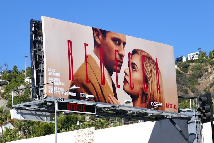 Rebecca Netflix film billboard