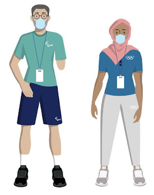 Tokyo 2020 Olympics athletes playbook wear a mask at all times Paralympics