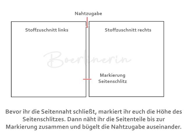 Boerlinerin - Tutorial Seitenschlitze nähen
