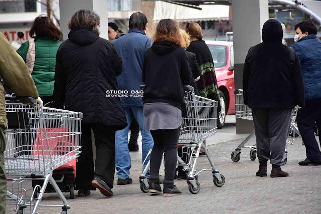 Ουρές παντού στην Αργολίδα - Το κρύο επιδεινώνει την ταλαιπωρία των πολιτών