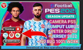 PES 2021 PPSSPP Camera Jauh PS5 Update Kits 2021/2022