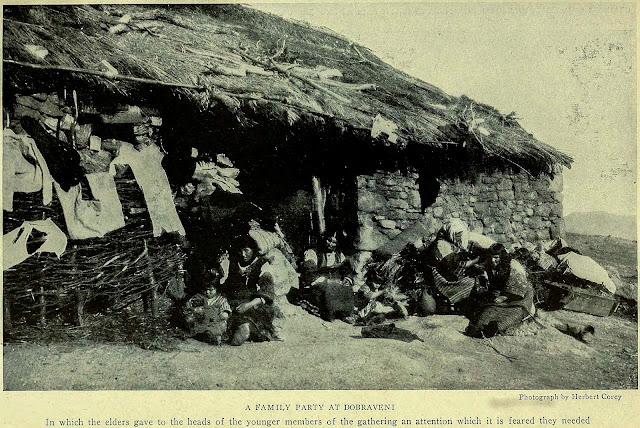 A FAMILY PARTY AT DOBRAVENI In which the elders gave to the heads of the younger members of the gathering an attention which it is feared they needed