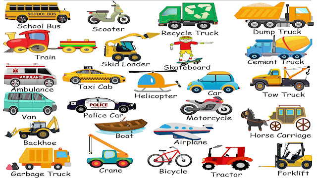 Vehicles Names in English with Pictures