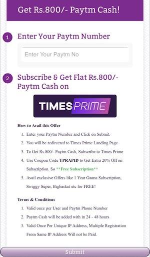 Timesprime Membership FREE plus ₹400 Payzapp Cashback