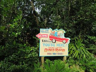 This Way to Dinorama Dinoland USA Sign Disney's Animal Kingdom