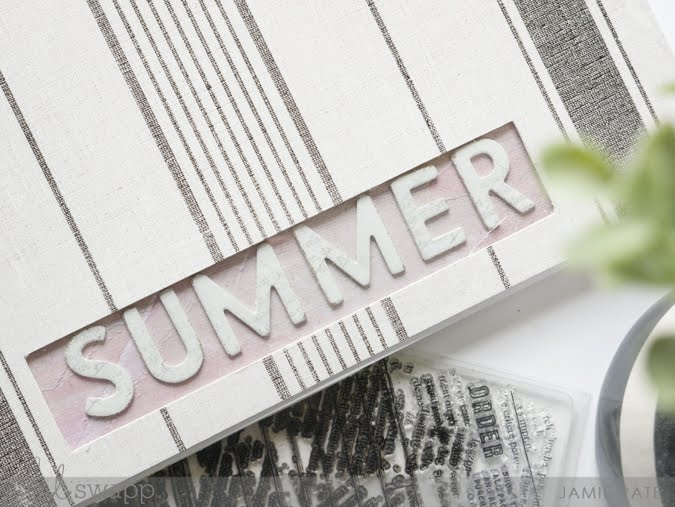 How To Create a Summer Title with Heidi Swapp Storyline Chapters by Jamie Pate