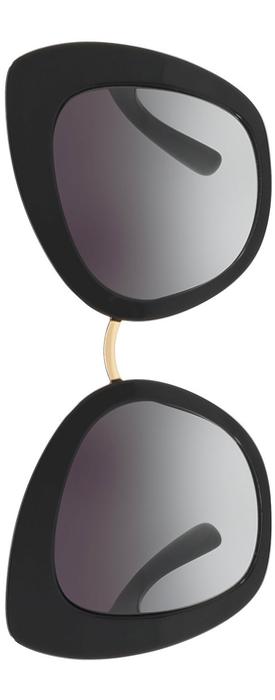 Dolce & Gabbana Peaked Cat-Eye Acetate Sunglasses