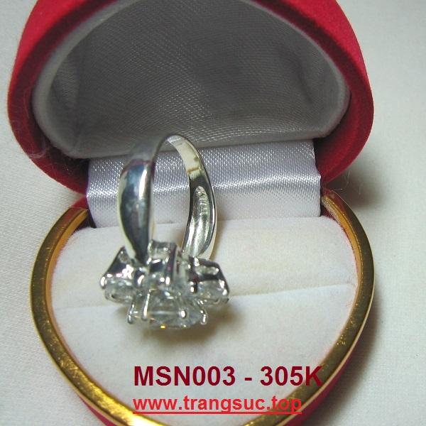 TrangSuc.top - Nhẫn đính đá trắng cao cấp MSN003 - 305.000 VNĐ - Liên hệ mua hàng: 0906846366(Mr.Giang)