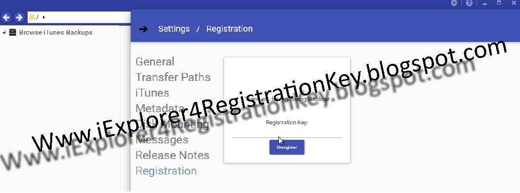 iexplorer register number
