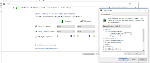 Windows 10 Power Setting
